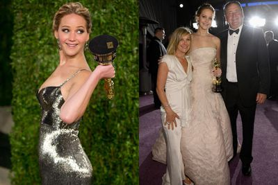 Oscar winner Jen did parents Karen and Gary proud. Silver lining indeed!