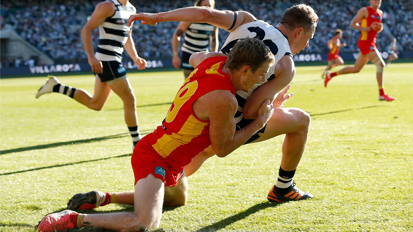 Gold Coast Suns to challenge Nick Holman ban for 'perfect' Mitch Duncan tackle