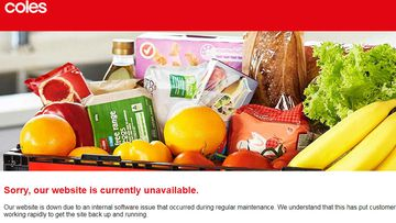 Coles website hit by major outage