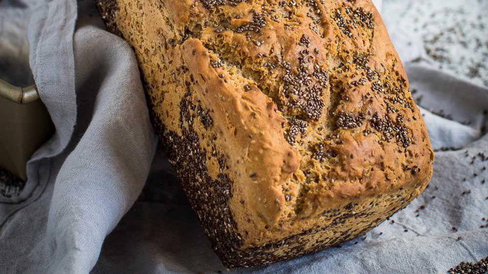 High fibre buckwheat chia bread