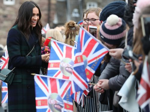 The Suits actress met with fans in Edinburgh. (AAP)