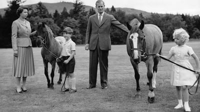 Prince Philip and family, 1955