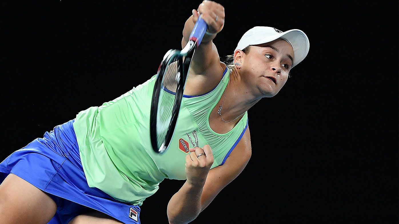 No.1 seed Ashleigh Barty survives major scare to prevail in opening round of Australian Open