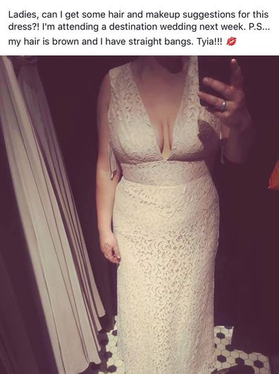 Woman gets hate online for white lace long dress