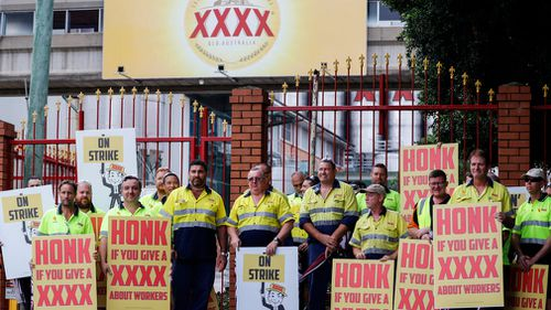 Protesters fear the Queensland company plans to make more of its beer in other states. (AAP)