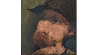 Leon Hall, Self-portrait.