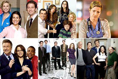 <I>Glee</I><br/><br/><I>Modern Family</I><br/><br/><I>Nurse Jackie</I><br/><br/><I>30 Rock</I><br/><br/><I>The Office</I><br/><br/><I>Curb Your Enthusiasm</I>