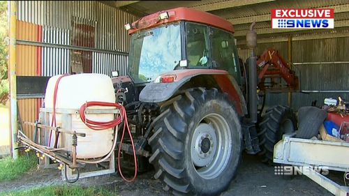 The offenders used a tractor connected to a chain to force their way into the property (Supplied).