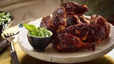 """Recipe: <a href=""""http://kitchen.nine.com.au/2016/05/16/15/09/tandoori-chicken"""" target=""""_top"""">Tandoori chicken</a>"""