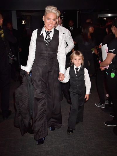 Singer Pink and daughter Willow at the 2017 MTV Video Music Awards in Hollywood.