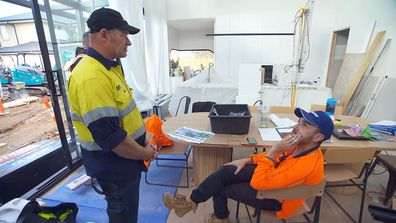 Foreman Keith talks to Vito about 'free' laundry on The Block 2021.