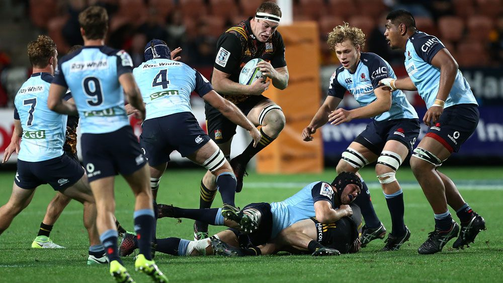 Chiefs second-rower Brodie Retallick takes on the Waratahs. (AAP)