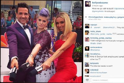 @kellyosbourne: Here we go wish is luck!!! @giulianarancic @georgekotsi #eredcarpet