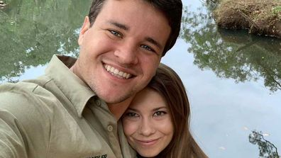 Chandler Powell and Bindi Irwin.