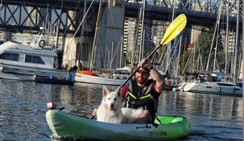 Kayaking is one of the pair's favourite activities, and Mya has got more confident on the water.