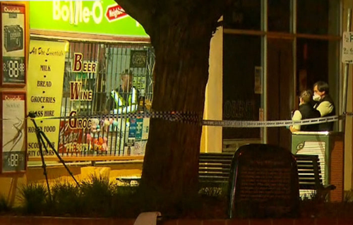 Police were in the area investigating a series of armed robberies. (9NEWS)