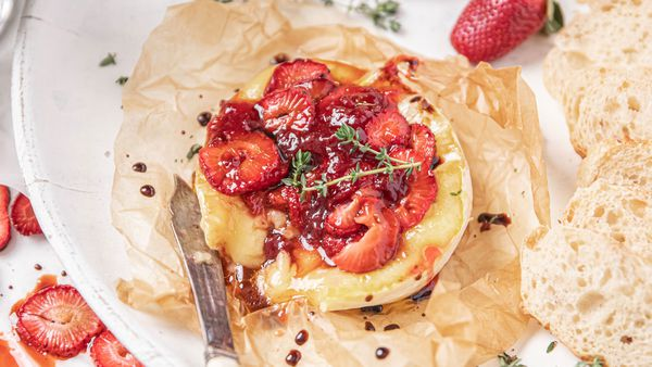 Oven roasted balsamic strawberries recipe