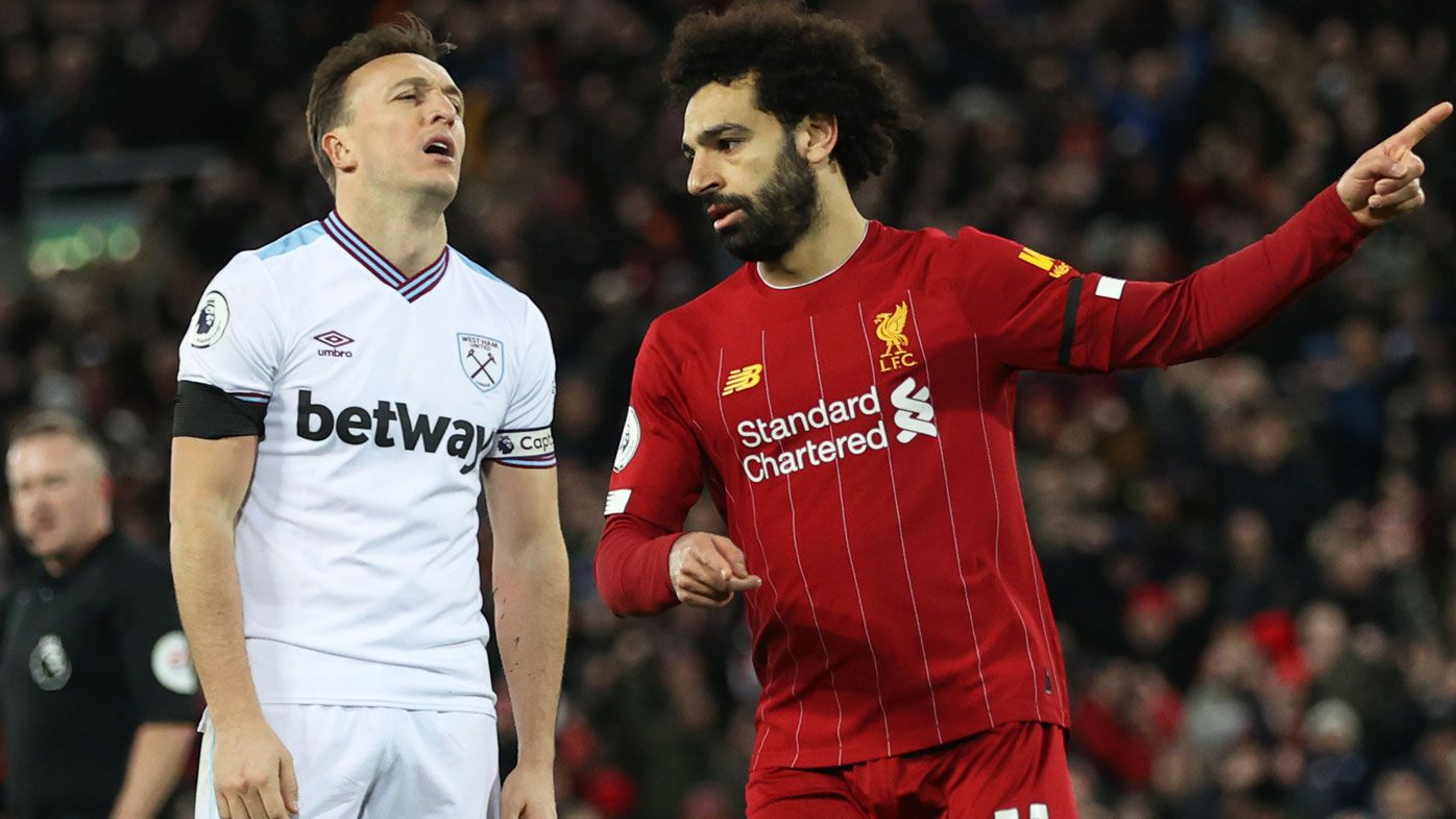 Gutsy Liverpool maintain unbeaten EPL run, coming from behind to beat West Ham