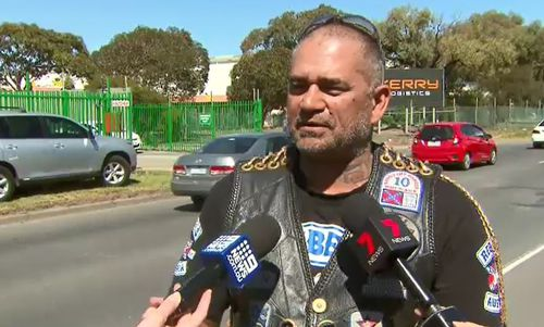 Rebels bikie member Dean Martin said the gang isn't in Melbourne to cause trouble.