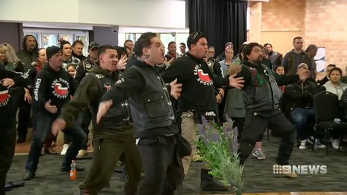The family's Kiwi relatives performed a haka in tribute to the victims. Picture: 9NEWS