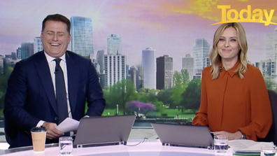 Stefanovic burst into hysterics after being called a role model.
