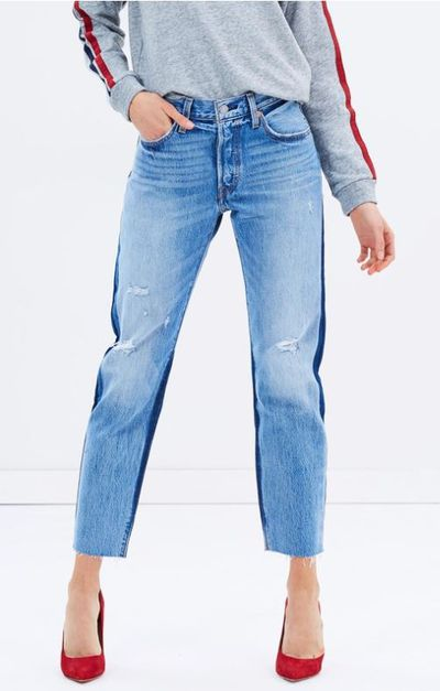 """<a href=""""https://www.theiconic.com.au/501-cropped-jeans-503448.html"""" target=""""_blank"""" draggable=""""false"""">Levis 501 Cropped Jeans, $149.95.</a>"""