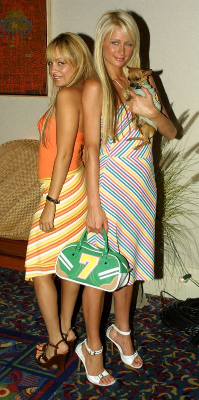 Paris Hilton and Nicole Richie at the Fox 2003 Summer Press Tour