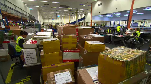 The mail gateway inspects every parcel entering Australia from overseas.