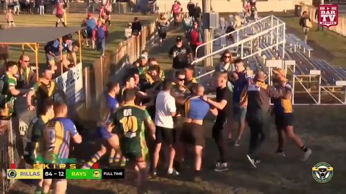A brawl erupted following a rugby league match at Lake Illawarra, south of Sydney.