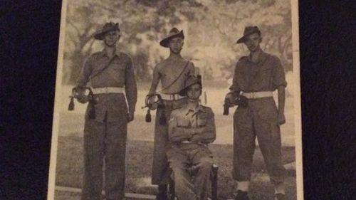 Tom Bryan and his fellow ex-servicemen. (Facebook/Tony Budgett)