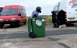 UK engineer sets record with speedy wheelie bin