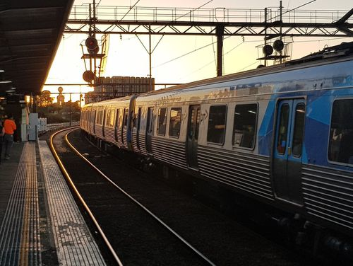 The city's train services have also been slowed by the heat. (Twitter via Metro Trains)