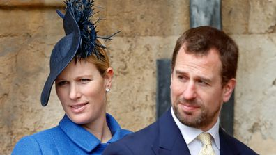 Peter Phillips with sister Zara Tindall both children of Princess Anne.