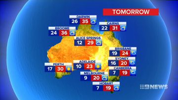 The latest weather update for Australia