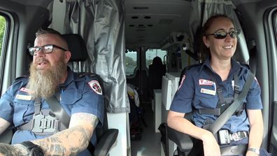 Paramedics TV show Paul and Carina 2020
