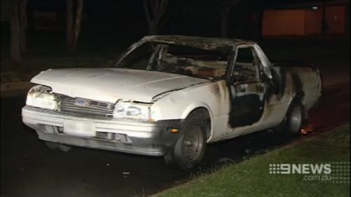 A burnt out ute was later linked to the fatal collision. (9NEWS)