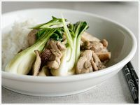 Chicken, mushroom and baby buk choy stir-fry