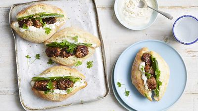 "Recipe:&nbsp;<a href=""http://kitchen.nine.com.au/2018/01/16/12/18/little-greek-quke-and-lamb-kofta"" target=""_top"">Little greek quke and lamb kofta</a>"