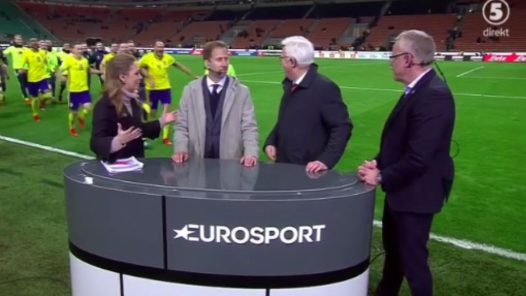 Sweden team crash live TV report after defeating Italy