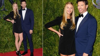 Harry Connick Jr. arrives with his daughter, Georgia. (AAP)