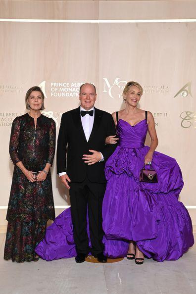 Princess Caroline, Prince ALbert and Sharon Stone at 5th Monte-Carlo Gala for Planetary Health