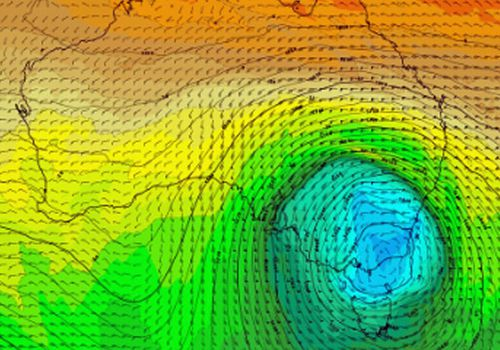 The low pressure system which will hit Victoria on Thursday and NSW on Friday is from a polar vortex (Weatherzone).