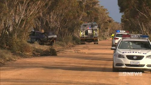Emergency services remain on-scene. Picture: 9NEWS