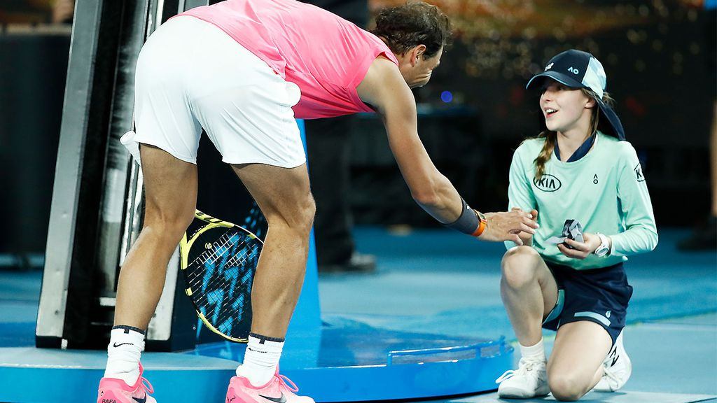 Tennis News Rafael Nadal Meets Ball Girl He Hit During Australian Open Match