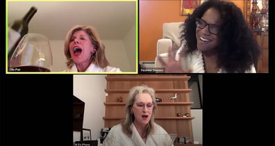 Meryl Streep, Christine Baranski and Audra McDonald celebrate Stephen Sondheim in their bathrobes