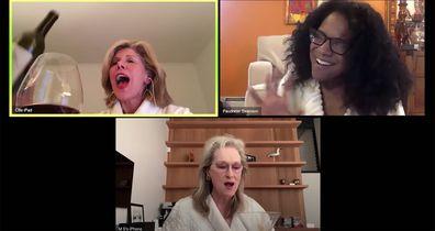 Meryl Streep, Christine Baranski and Audra McDonald celebrate Stephen Sondheim in their bathrobes
