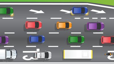 The vehicles legally allowed to travel in T3 lanes at any time