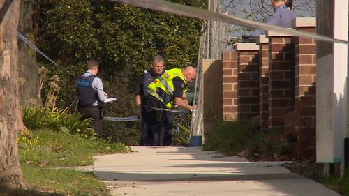 The tradies were working nearby and took chase, but they too were fired at by the gunman. Picture: 9NEWS