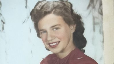 Erica at 16 during WWII.