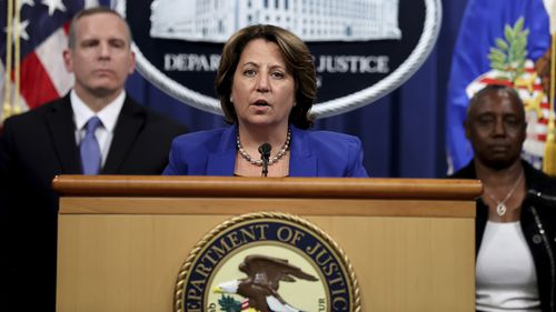 Deputy U.S. Attorney General Lisa Monaco announces the recovery of millions of dollars worth of cryptocurrency from the Colonial Pipeline Co. ransomware attacks as she speaks during a news conference with FBI Deputy Director Paul Abbate and Acting U.S. Attorney for the Northern District of California Stephanie Hinds at the Justice Department in Washington, U.S., June 7, 2021. REUTERS/Jonathan Ernst/Pool??